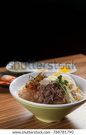 Delicious rice noodles In a bowl