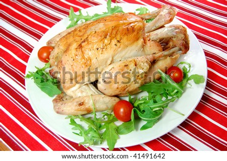 Delicious roast chicken