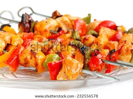Delicious roasted chicken tikka at shallow DOF - stock photo