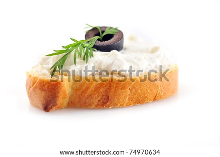 delicious sandwich of toasted bread and dill