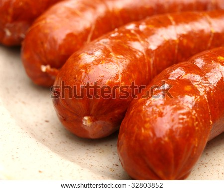 Delicious sausages - stock photo