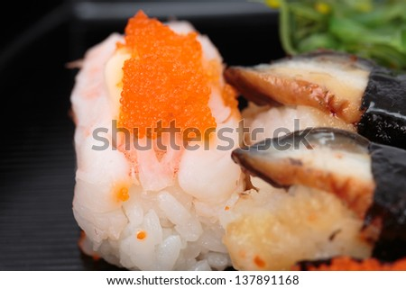 delicious seafood sushi