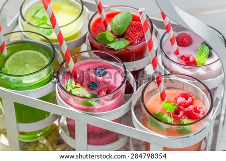 Delicious smoothie with berry fruits - stock photo