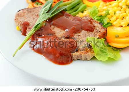 Delicious steak set