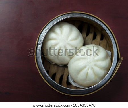 delicious steamed buns bamboo steamer chinese stock photo royalty