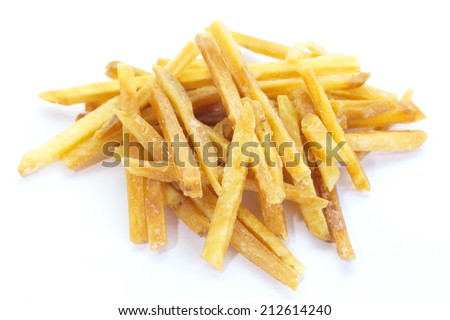 delicious sweet and salty fried potato snack food