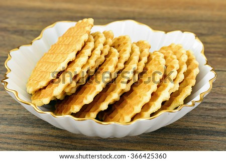 Delicious Sweet Shortbread Biscuits Studio Photo
