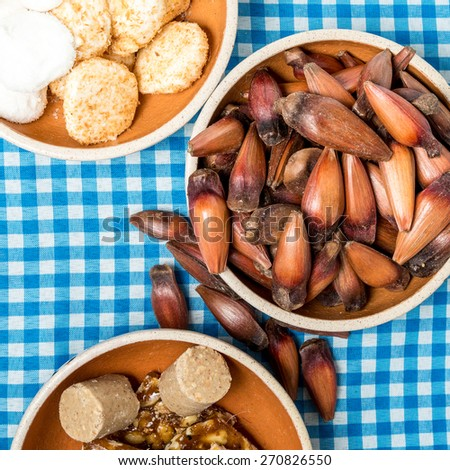Delicious sweets for the Brazilian Festa Junina Party - stock photo