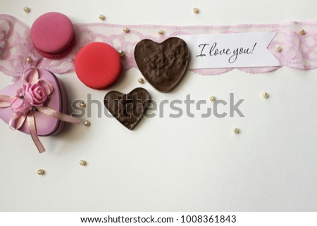 Delicious  sweets for Valentine Day