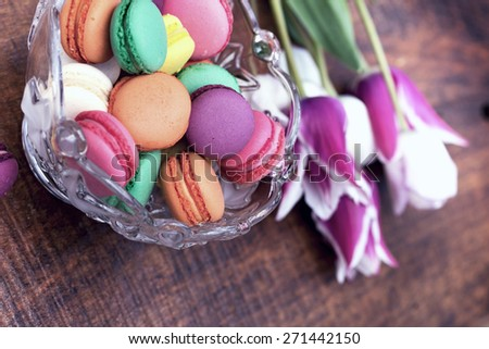 Delicious - tasty colorful biscuits ( cakes) - stock photo