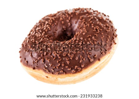 delicious tasty donuts isolated over a white background