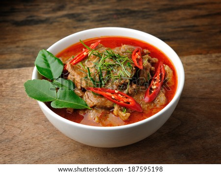 Delicious Thai panang curry - stock photo