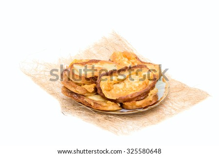 Delicious toast with grilled cheese on a platter. - stock photo