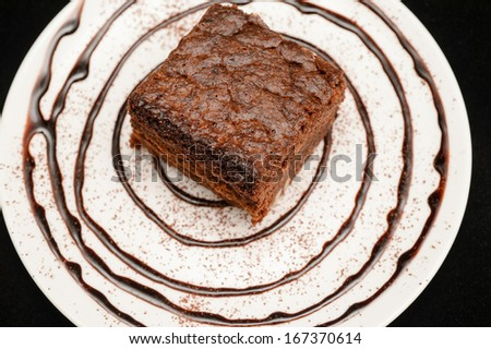 delicious traditional homemade cake - stock photo