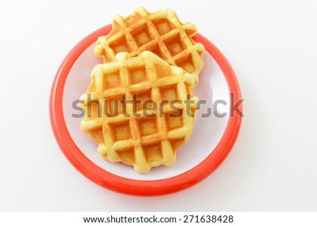 Delicious waffles - stock photo