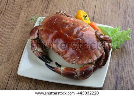 Delicous Stone crab with herbs and spices