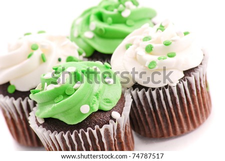 Delightfully Delicious Chocolate Cup Cakes - stock photo