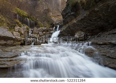 Delika Canyon with Nervion river, Alava (Spain)