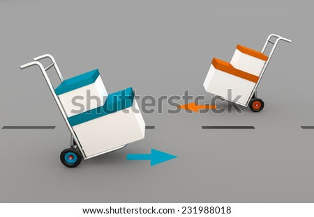 delivery and shipment service - distribution - stock photo