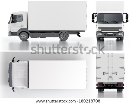 Delivery / Cargo Truck 3d render - stock photo