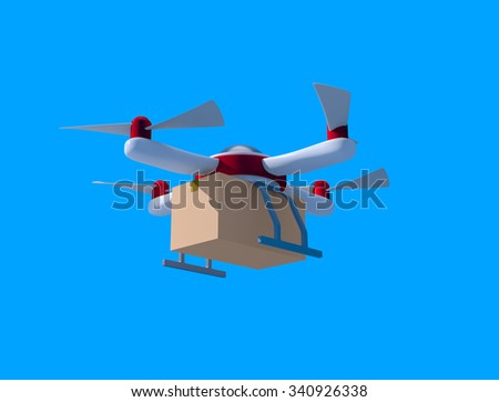 Delivery drone - stock photo