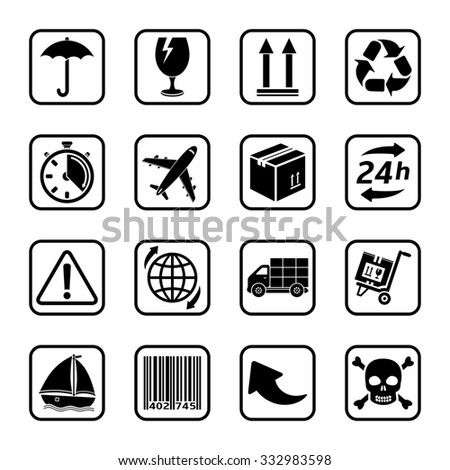 Delivery icons - stock photo