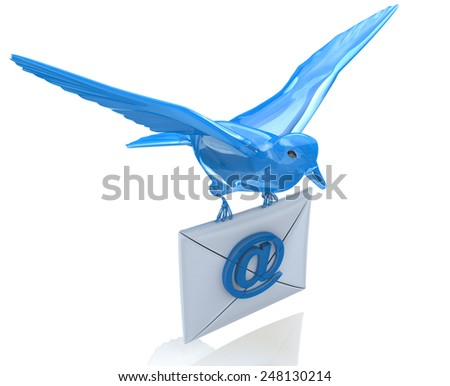 Delivery of e-mail  - stock photo