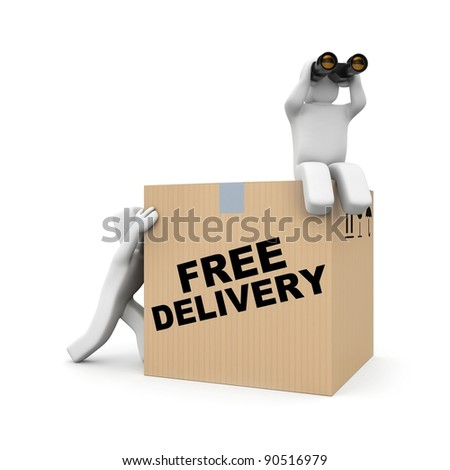 Delivery team - stock photo