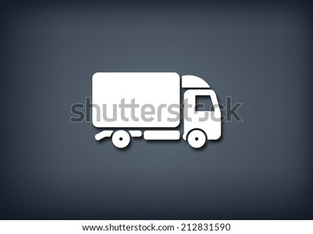 Delivery truck icon - stock photo