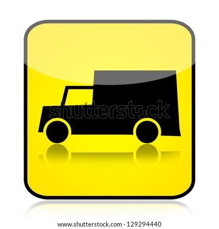 Delivery truck sign - stock photo