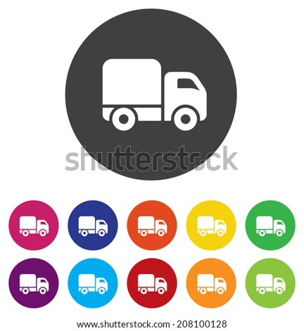 Delivery truck sign icon. Cargo van symbol - stock photo