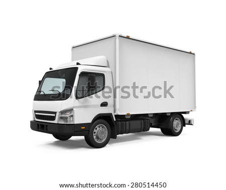 Delivery Van Isolated - stock photo