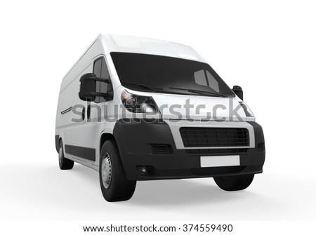 Delivery Van Isolated - stock photo