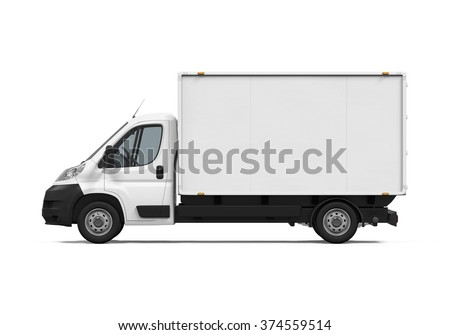 Delivery Van Isolated