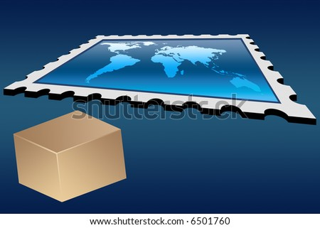 Delivery world wide concept - stock photo