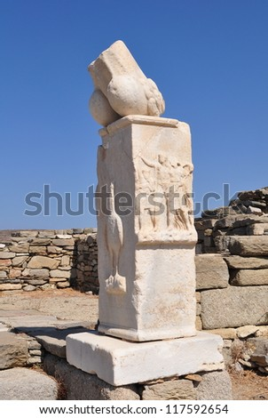 Delos - mythological, historical and archaeological sites in Greece.