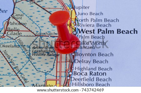 Delray Beach Florida Palm Beach County Stock Photo Royalty Free