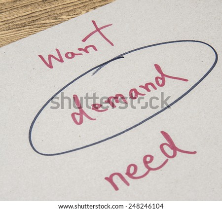 demand - stock photo