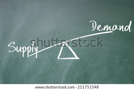 demand and supply concept - stock photo