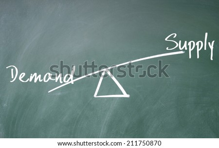 demand ans supply concept - stock photo
