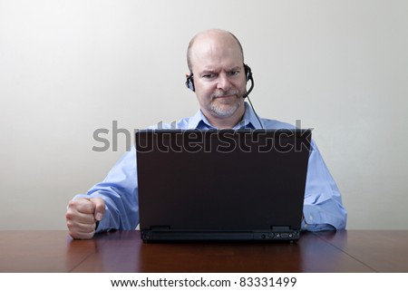 Demanding Businessman - stock photo