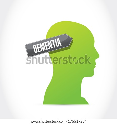 dementia illustration design over a white background - stock photo