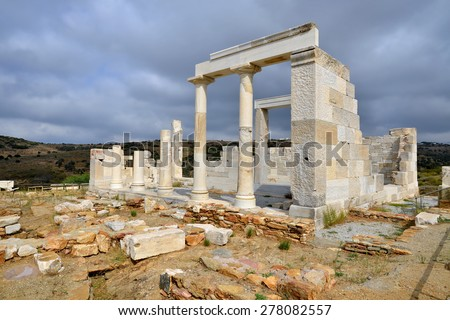 Demeter temple at Naxos island, Kyklades, Greece
