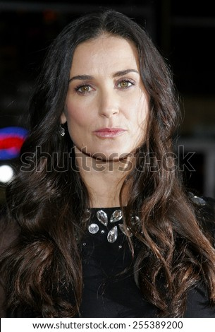 """Demi Moore attends Los Angeles Premiere of """"Mr. Brooks"""" held at the Grauman's Chinese Theater in Hollywood, CA on 05/22/07. - stock photo"""