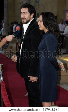 "Demian Bichir and Kate del Castillo at the Los Angeles premiere of ""Matando Cabos"" held at the Eygptian Theatre in Hollywood, USA on on August 22, 2005."