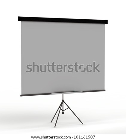 demo board for education and presentations. isolated on a white background
