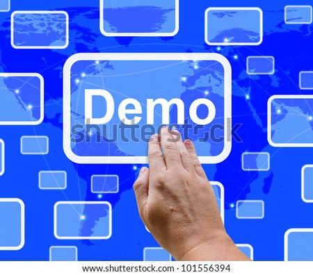 Demo Button To Download Trial Version Of Software - stock photo