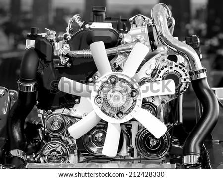Demo Car Engine  - stock photo