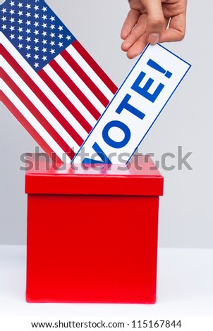 democracy concept in USA - stock photo