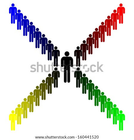 Democracy Concept - Whichever way you vote, you get the same - stock photo